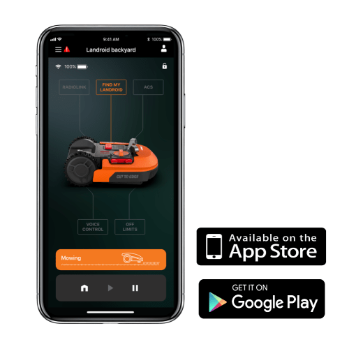 Many robot mowers have apps that allow you full remote control