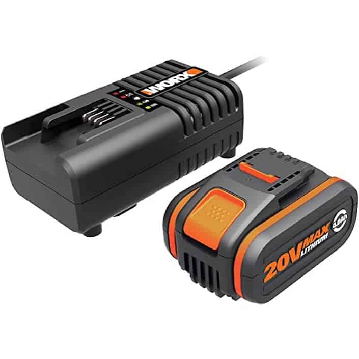 Worx 4.0Ah Powershare battery & 2A Charger